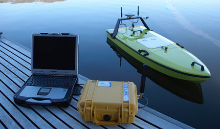 CEE-USV_Remote-control-hydrographic boat-and-shore-station
