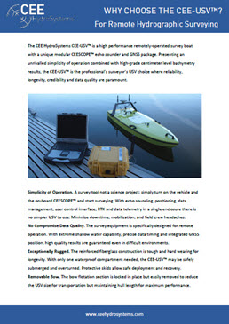 Cee Usv Remotely Operated Hydrographic Survey Drone Boat